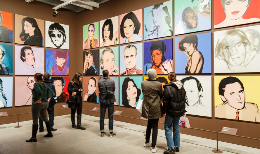 Installation view of Andy Warhol