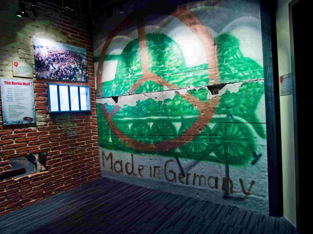 A fragment of the Berlin Wall at Ripley's Believe It or Not! Times Square