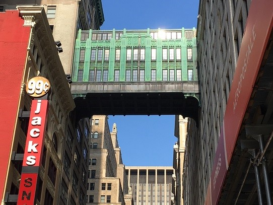 Gimbel's Bridge in Manhattan
